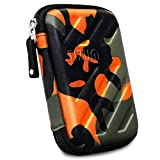 TIZUM External Hard Drive Case for 2.5-inch Hard Drive, GPS -Premium Edition (Camouflage Orange)