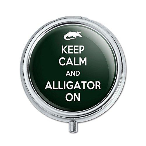 Keep Calm und Alligator auf Pille Fall Schmuckkästchen Geschenk-Box (Fall Alligator)
