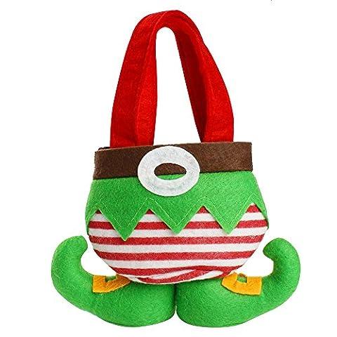 Alxcio Weihnachten Geschenk Taschen Grün Sprite Süßigkeits-Tasche Nette Tasche Frohe Weihnachten Dekorationen Für Zuhause Weihnachtsbaum