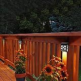 Solalite Decorative Wireless Garden Solar Lights Weatherproof Outdoor Fence Lamps (10)