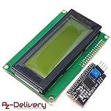 AZDelivery ⭐⭐⭐⭐⭐ HD44780 2004 LCD Display Verde Modulo Pantalla con Interfaz I2C 4x20 Caracteres para Arduino con ebook Gratis!