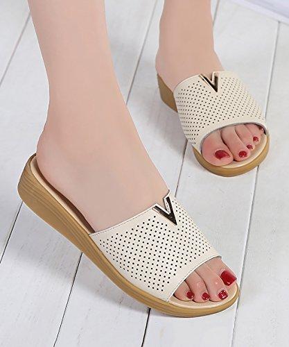 CHAOXIANG Pantofole Da Donna Antiscivolo Con tacco Ciabatte Piatte Sandali Da Surf Nuova Estate Ciabatte Spiaggia ( Colore : B , dimensioni : EU38/UK5/CN39 ) B