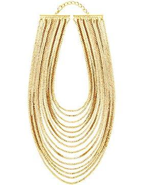 Front Row Damen-Kette goldfarben mehrere Kettenlagen - Länge 41-47cm