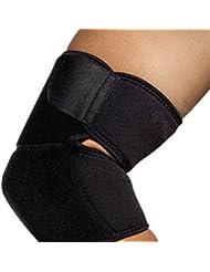 Coudière de Maintien Yesloo Protection de Coude Bras Elastique Antichoc Bandage pour Sport, Noir