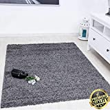 VIMODA Prime Shaggy Teppich Farbe Anthrazit Hochflor Langflor Teppiche Modern für Wohnzimmer Schlafzimmer, Maße:120x170 cm