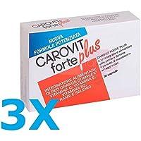 3X CAROVIT FORTE PLUS - Integratore Alimentare utile per la preparazione  all esposizione solare - 85ea71b61348