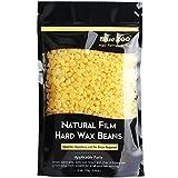 Bluezoo Premium Niedrigtemp-Heißwachs Brasilianische Wachs Granulat Perlen Für Intim Achseln Beine Arme und Gesicht Benutzung Ohne Vliesstreifen Mikrowelle geeignet Honig 250g