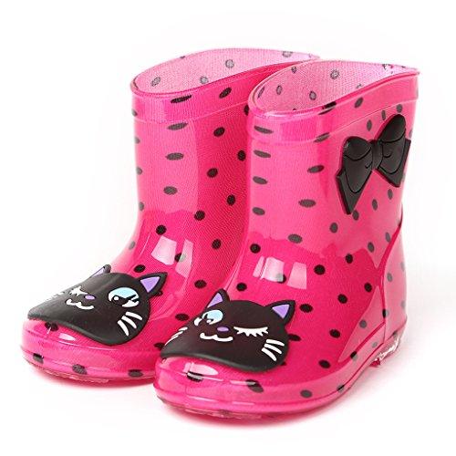 Kinder Gummistiefel Kinderschuh Baby Wasserdicht Schuhe (Alter 2-6 Jahre) GudeHome