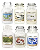 Official Yankee Candle White Selection Box Gift Set Of 6 Classic Signature Large Jars