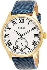 Guess Mens watch Analog Display Quartz Movement Leather W1075G2