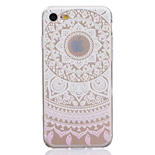 "iPhone 7 Coque - MYTHOLLOGY Antichoc Housse Transparent Silicone Souple Slim Coque iPhone 7 (4.7"") - JBLS YFBH"