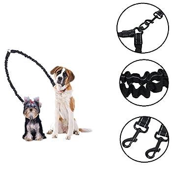 Ewolee Hundeleine Doppelleine | Hundeleine Für 2 Hunde | Dehnbare Reflektierende Doppel-leine Für Kleine Bis Große Hunde 5