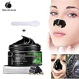 Water Ice Levin nero maschera carbone di bambù Peel-Off Blackhead Mask, purificante qualità nero pori rimozione Peel Off striscia carbone maschera per il viso naso