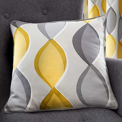 Fusion Lennox Funda de cojín, 100% algodón, Gris, Cushion Cover: 43 x 43cm