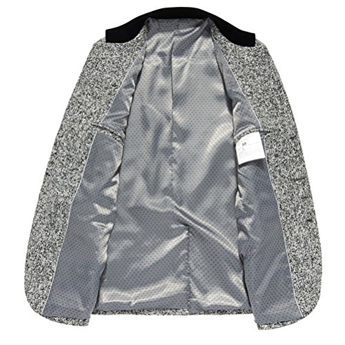 Zhuhaitf la mode masculine Men's Soft Thin Single Breasted Blazer Coat Sizes XXL,XXXL,4XL,5XL,6XL Light Gray