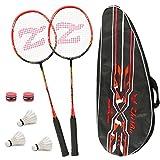 Philonext Badmintonschläger Set mit 3 Federbällen & Tragetasche & 2