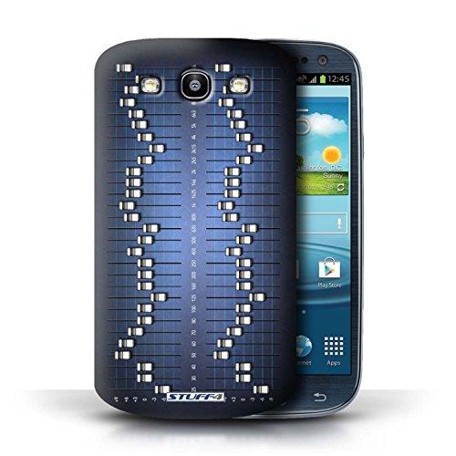 Kobalt® Imprimé Etui / Coque pour Samsung Galaxy S3/SIII / Cassette Vidéo VHS conception / Série Retro Tech Égaliseur Graphique