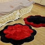 KELE Ciruela manta sala de estar sofá cama de la habitación de la puerta de entrada sala de la alfombra comprar uno enviar uno-rojo+negro diámetro100cm(39inch)