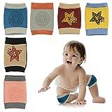 HBselect 6 Paar Baby Knieschoner Krabbelschoner mit Gummipunkte anti-Rutsch Knieschützer für Junge und Mädchen 0-2 Jahre