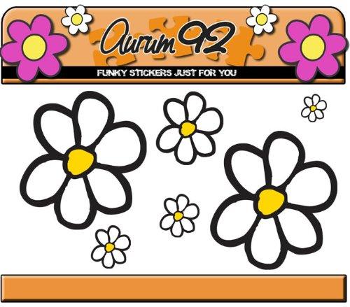 Aurum92 Paquete de Pegatinas de Margaritas - más de 40 Flores