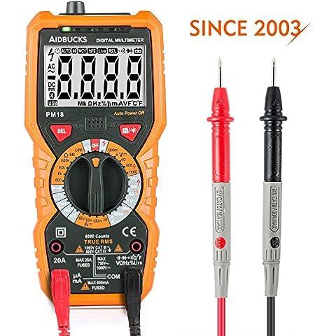 Multimetro Digitali Janisa PM18 Tester Digitale Professionale 6000 Conta DC