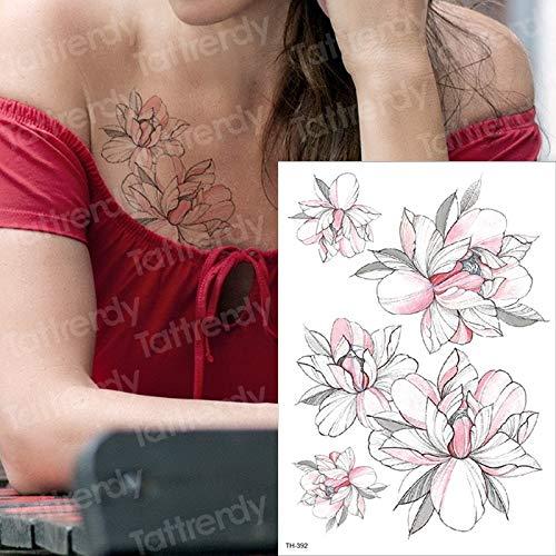 Tzxdbh tatuaggi temporanei impermeabili tatuaggi adesivi per tatuaggi e body art tatuaggi rose black tatuaggi per uomo donna tatuaggi