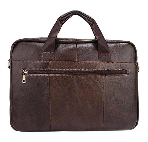 Preisvergleich Produktbild BAAFG Leder Herren Aktentasche Laptoptasche Messenger Schultertasche Arbeitsflug Im Freien, Coffee-OneSize