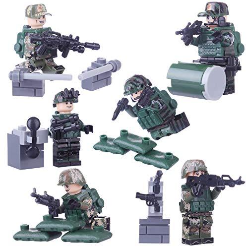 MOEGEN 6pcs Mini Figuras Set Soldados policía