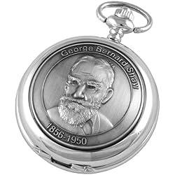 A E Williams Men's George Bernard Shaw Mechanical Pocket Watch 4973Sk