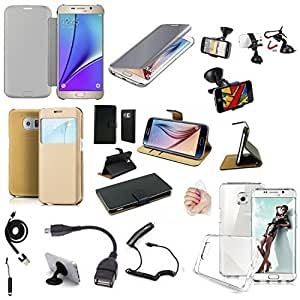 galaxy s6 edge plus lot de 10 accessoires housse etui coque chargeur support cable. Black Bedroom Furniture Sets. Home Design Ideas