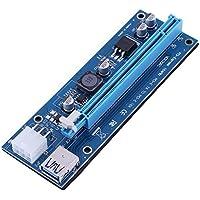 Hillrong - Tarjeta PCI-E USB 3.0 DE 6 Pines, 1 a 16 aumentadores BTC Mining
