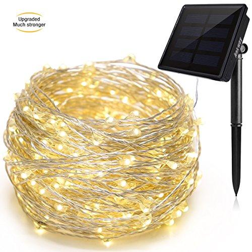 Tira de luz LED solar de 22 metros impermeable marca Ankway