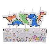 Kesheng 5x Dinosaurier Kerzen Farbig Kindergeburtstag Party Kuchen Torte Dekoration