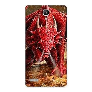Premium Red Fantastic Dragon Back Case Cover for Redmi Note Prime