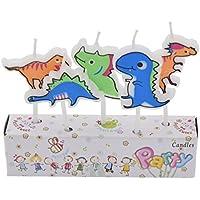 Kesheng 5pcs Velas de Dinosaurios para Cumpleaños Decoración de Fiesta de Cumpleaños de Niños