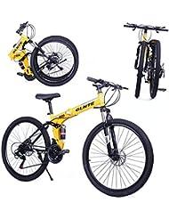 Riscko Bicicleta Plegable Mountain Bike Adventure Negro - Rojo