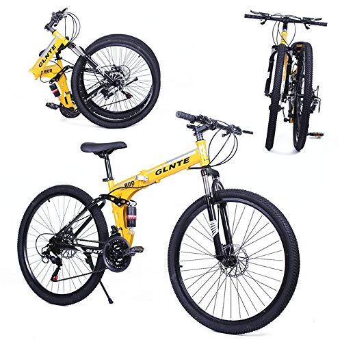 "Riscko Bicicleta Plegable Mountain Bike MTB 26\"" 21 SP Shimano Adventure Azul - Blanco 18,500 kg"