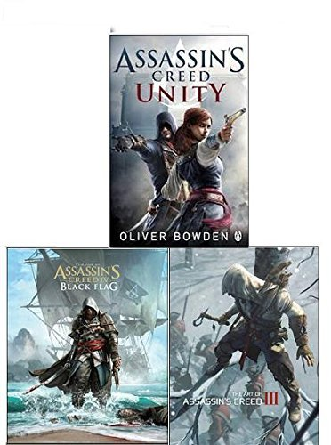 Portada del libro Assassins Creed Collection 3 Books Set, The Art of Assassins Creed III and The Art of Assassins's Creed IV - Black Flag (Assassins Creed and [Paperback] Assassin's Creed: Unity
