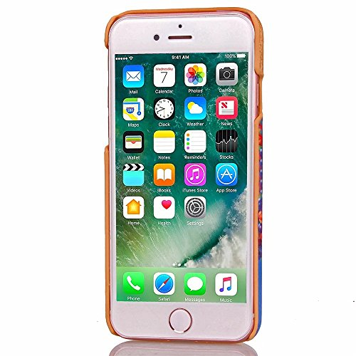 iPhone Case Cover Housse IPhone 7 Plus Housse Pour Affaires PC + Housse En Cuir Avec Slot Pour Carte Pour Apple IPhone 7 Plus 5.5 Pouces ( Color : 5 , Size : IPhone 7 Plus ) 1