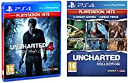 Uncharted Collection Hits (PS4)&Uncharted 4: A Thief's End Playstation Hits (PS4) - Newer