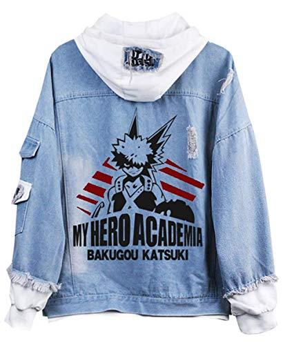 demia Anime Hoodie Jeansjacke Unisex Cosplay Denim Jacket Outwear Mäntel 8 M ()