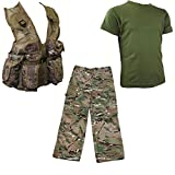 Contact Left Kids Lot de 6 Bloc-Notes, MTP Camouflage HMTC Match Action Pantalon Militaire PLCE Gilet T-Shirt d'olive