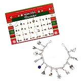 Lustiger Adventskalender, DIY Armband Halskette mit 22 Stück, modischer Anhänger Schmuck für Frauen Mädchen Kinder Geschenk