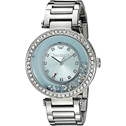 Juicy Couture Women's 1901330 Crystal-Accented Stainless Steel Watch