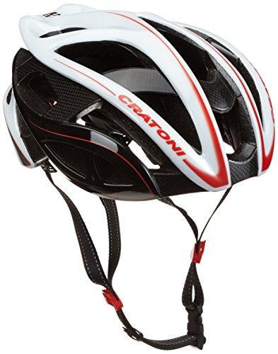 Cratoni Helm Terron, Weiß/Schwarz/Rot Glossy, 59-62 cm, 11014101