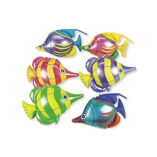 Tropische Fische Aufblasbare (Tropische Fische zum aufblasen 6 verschiedene)
