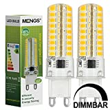MENGS® 2 Stück Dimmbar G9 LED Lampe 7W AC 220-240V Warmweiß 3000K 72x2835 SMD Mit Silikon Mantel