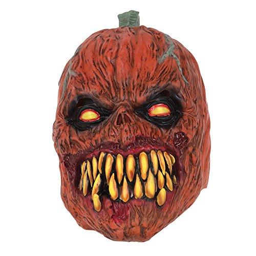 Bristol Novelty BM517Kürbis Horror Maske Latex, One size (Scary Vogelscheuche Halloween-masken)