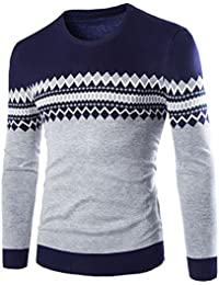 BUSIM Men's Long Sleeve Sweater Winter Pullover Sweater Casual Sweater Warm Knit Pullover Jacket Shirt Simple...