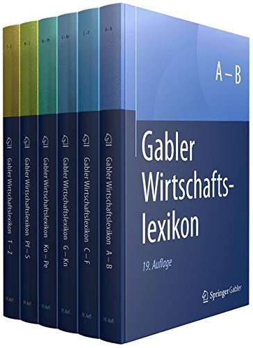 Gabler Wirtschaftslexikon, 6 Bände
